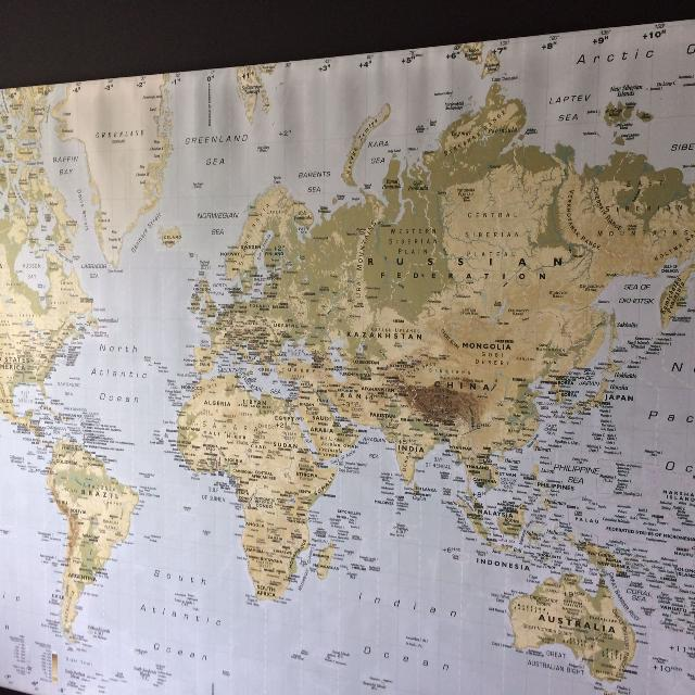 Find More Price Reduced World Map Canvas From Ikea For Sale At Up