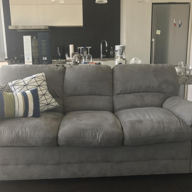Best 1 Peyton Microsuede Sofa Grey For In Yorkville Ontario 2019