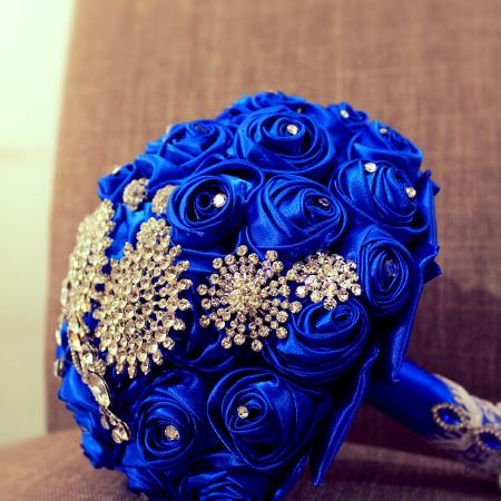Used, Brooch bouquet, fabric flower bouquet for sale  Canada