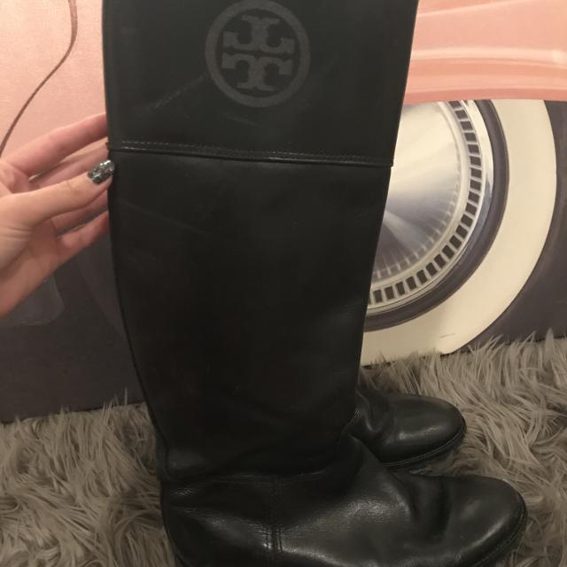 7d80967ce477 Best Authentic Tory Burch Black Leather Jackson Riding Boots 8.5 for sale  in Austin
