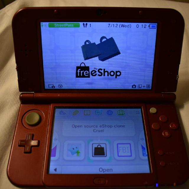 Hacked New Nintendo 3ds xl