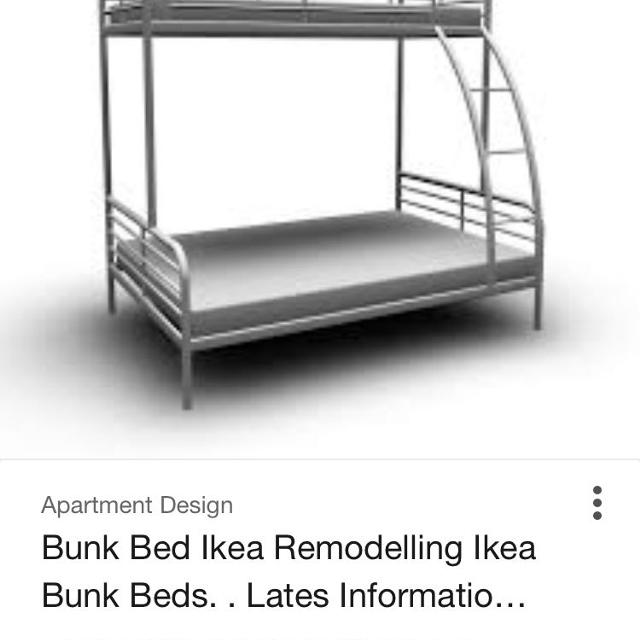 Ikea Bunk Beds Double On Bottom And Single The Top