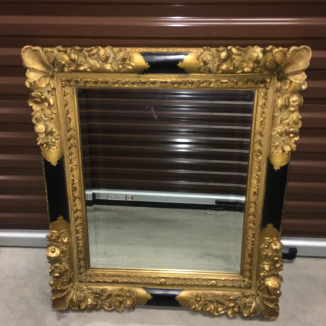 4dee453a7f03e Best Large And Heavy Black And Gold Ornate Mirror for sale in Gulfport