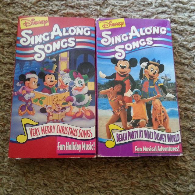 Disney Sing Along Songs Very Merry Christmas Songs.2 Sing Along Songs Vhs Movies