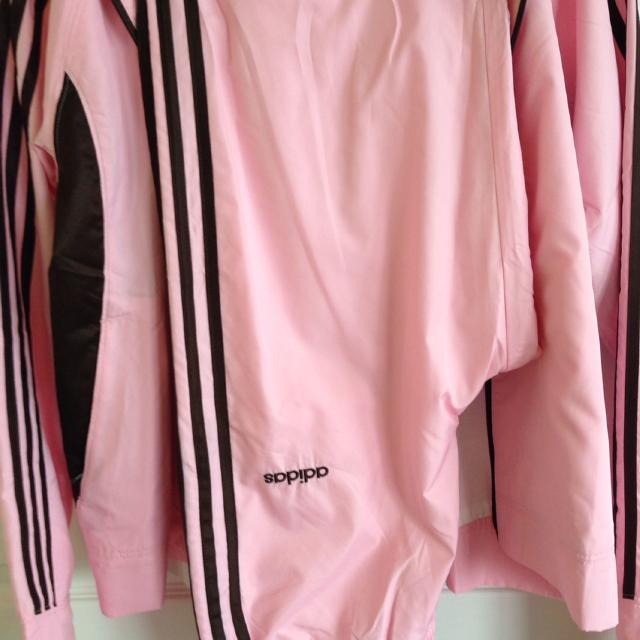 bedadb1ace65 Best Adidas Track Suit Light Pink With Chocolate Brown Stripes. These Are  The Pants