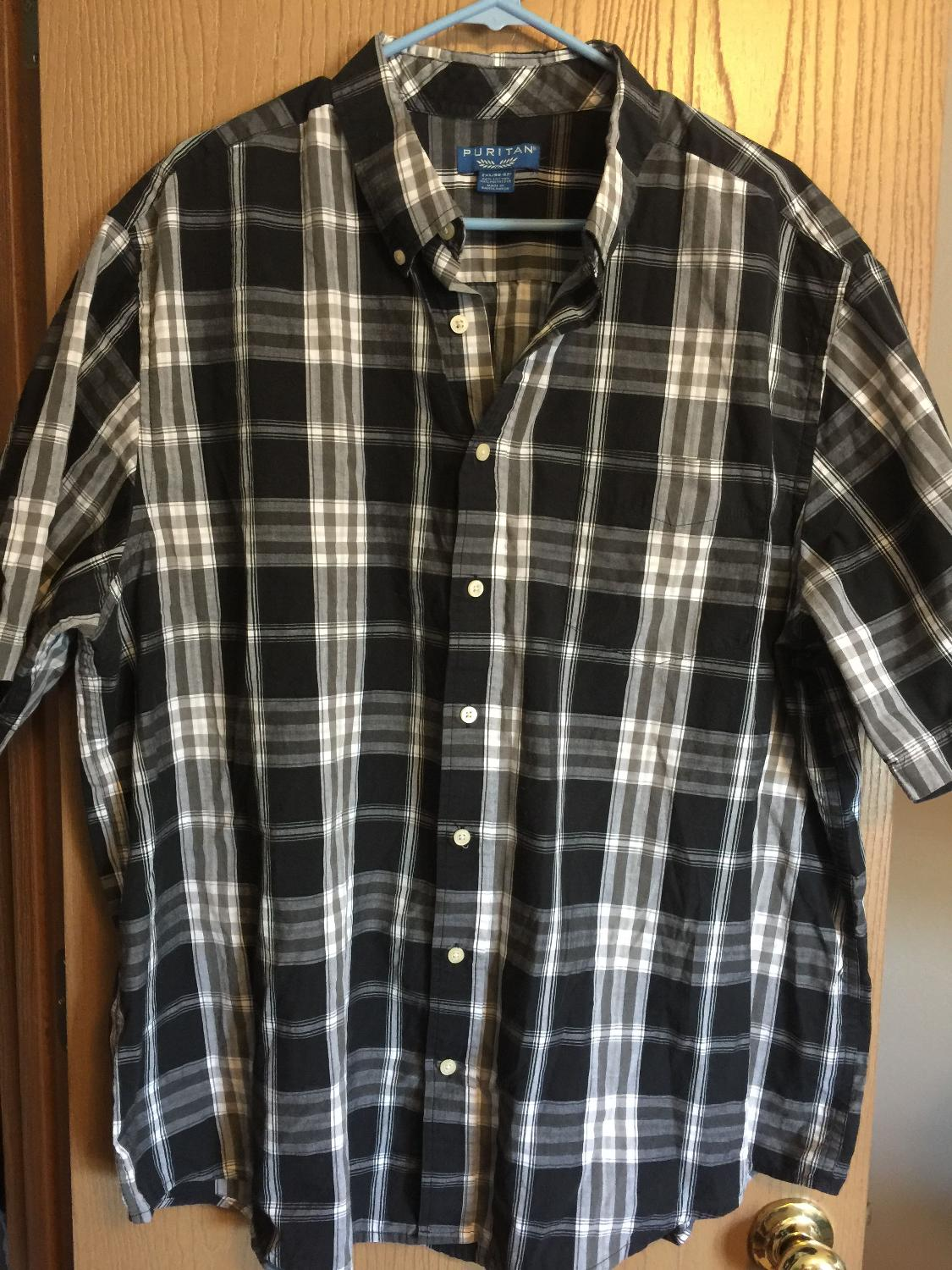 Find More Mens Puritan Brand Short Sleeve Shirt Size 2xl For Sale