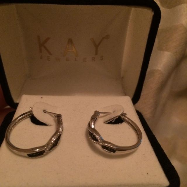 Kay Jewelers Black Diamond Earrings