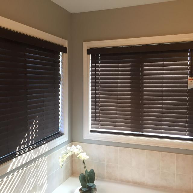 Best Dark Brown Faux Wood Blinds For Sale In Stouffville Ontario