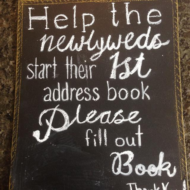 find more address book wedding guest chalkboard sign for sale at up