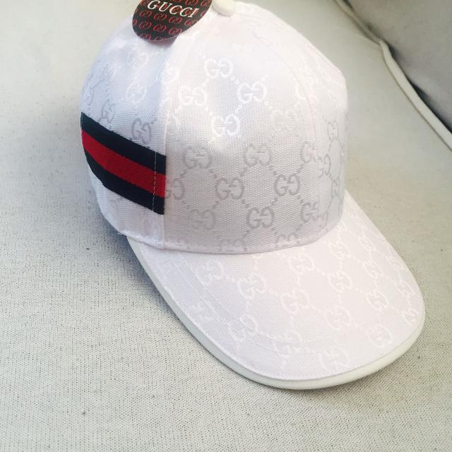 Find more White Gucci Hat for sale at up to 90% off 9bf66de1fc7