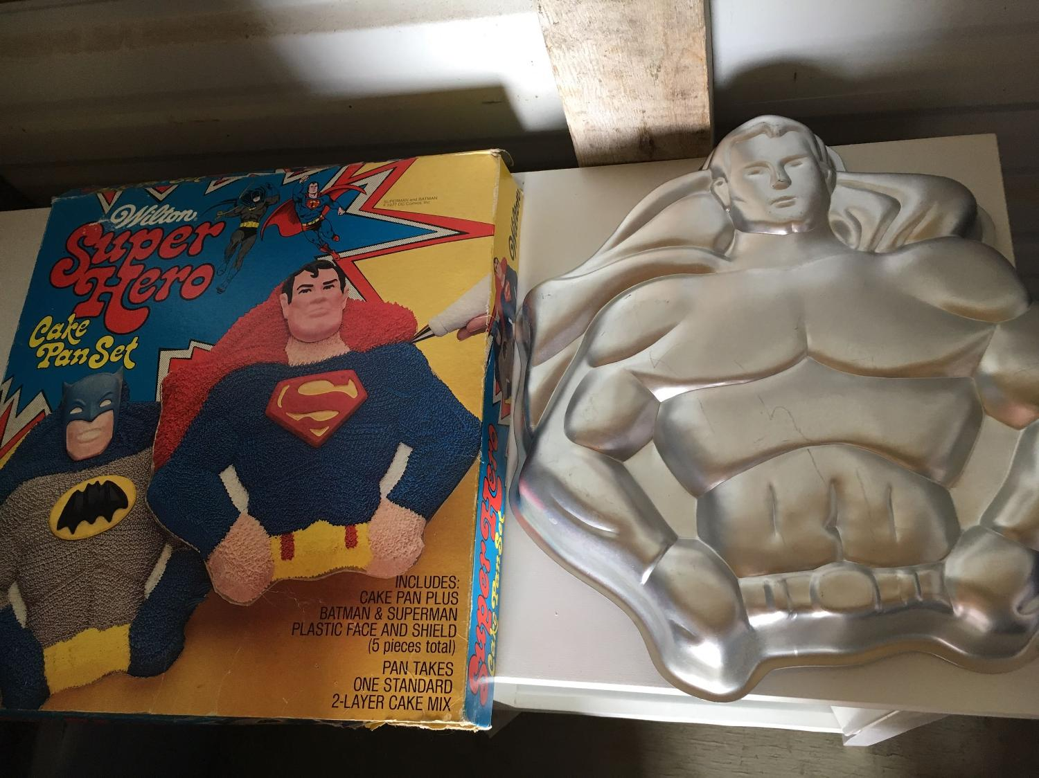 Find More 1977 Superman Cake Pan With Original Box For Sale At Up To 90 Off