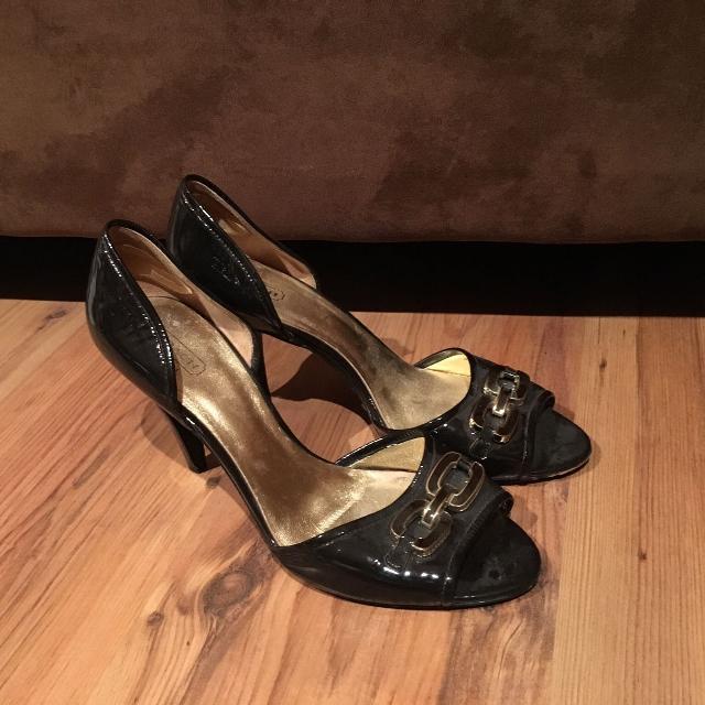 8438f551ca3 Dark brown high heeled coach shoes