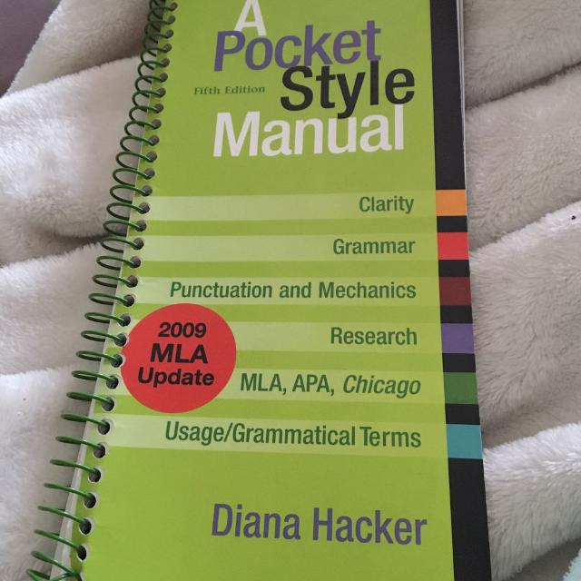 Best A Pocket Style Manual By Diana Hacker For Sale In Victoria