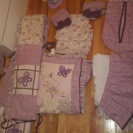 10 piece baby girl crib bedding for sale  Canada