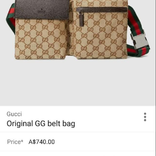 c482261d4d4 Find more Authentic Gucci Belt Bag for sale at up to 90% off
