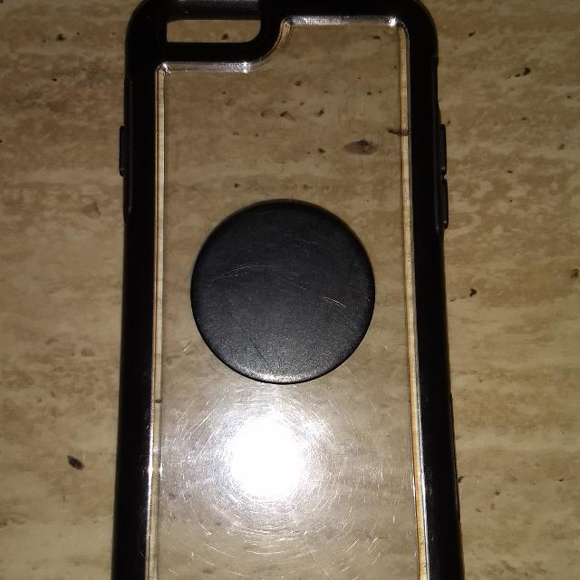 outlet store 6ea2b f2b6a Clear iphone 6/6s otterbox case with black border and built in black  popsocket
