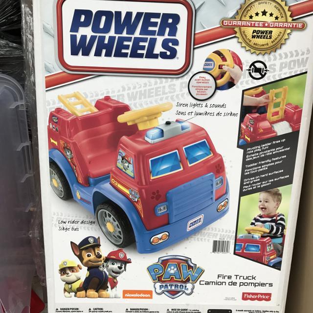 Power Wheels Paw Patrol Ride On Fire Truck