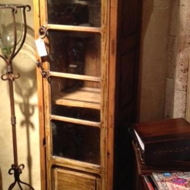 Best Old Antique Glass Door Cabinet 74hx24wx19d For Sale In
