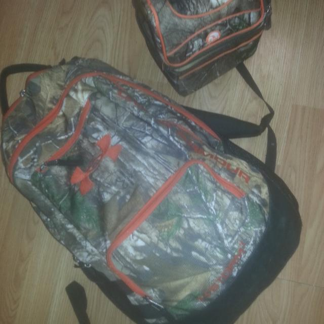 80d663e458c1 Find more Under Armour Camo Backpack With Igloo Camo Lunch Box Good ...