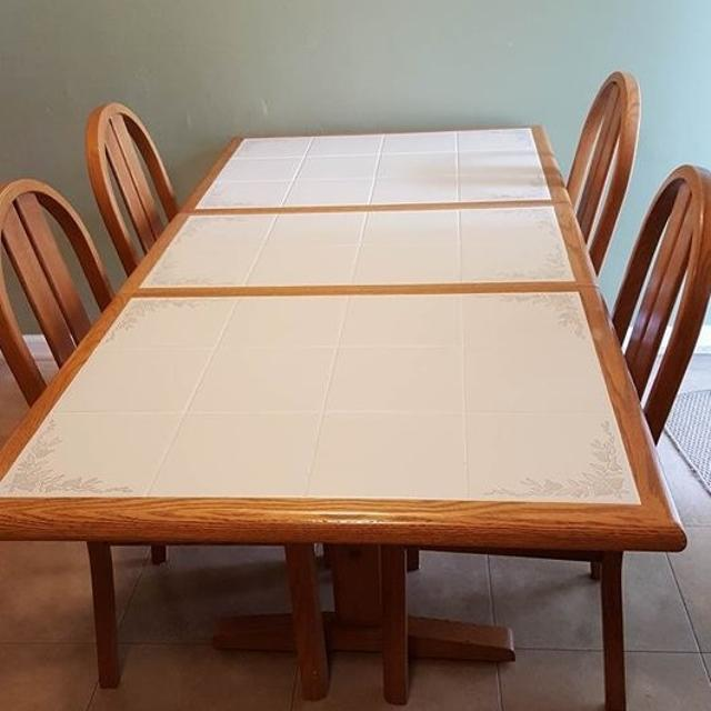 Find More Oak Dining Table With Tile Inlays For Sale At Up To 90 Off