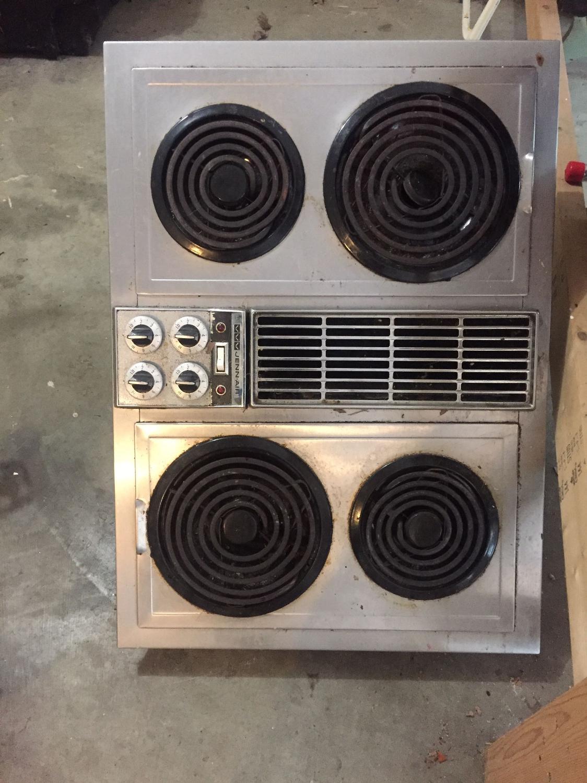 Vintage Jenn-Air Electric Stovetop!