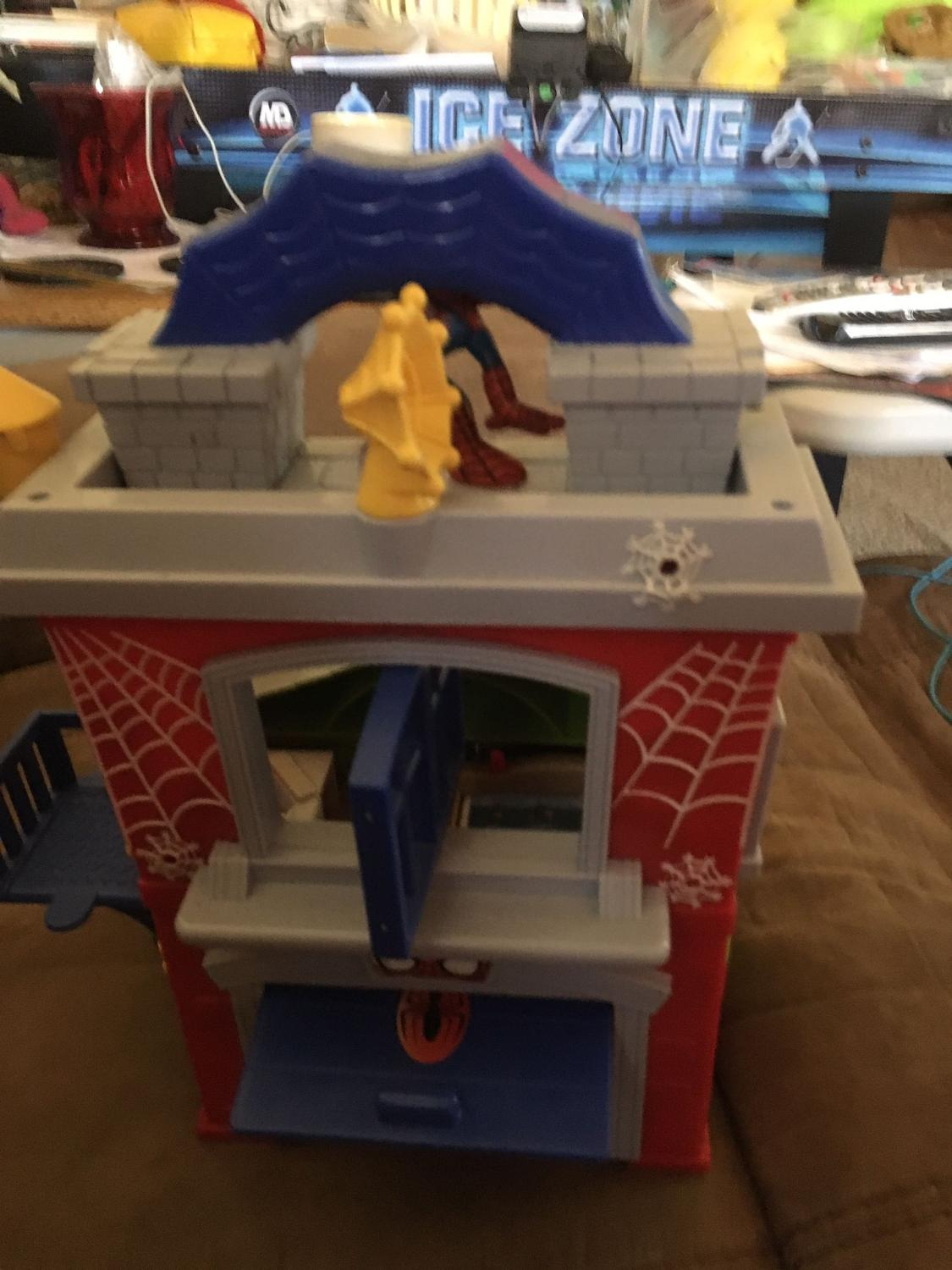 Find More Imaginext Spider Man House And Car For Sale At