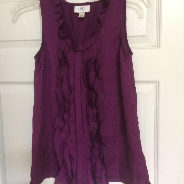 120266b496a Pretty, cute, purple blouse, Ann Taylor Loft, extra small