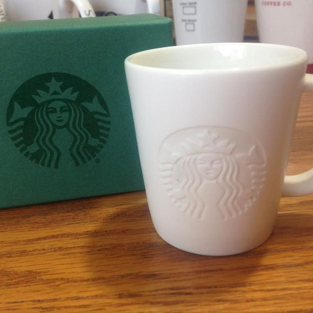 Best Starbucks Etched Siren Mermaid Logo Espresso Mini Small White Coffee Mug Cup 3 Oz 2017 For In Calgary Alberta 2019