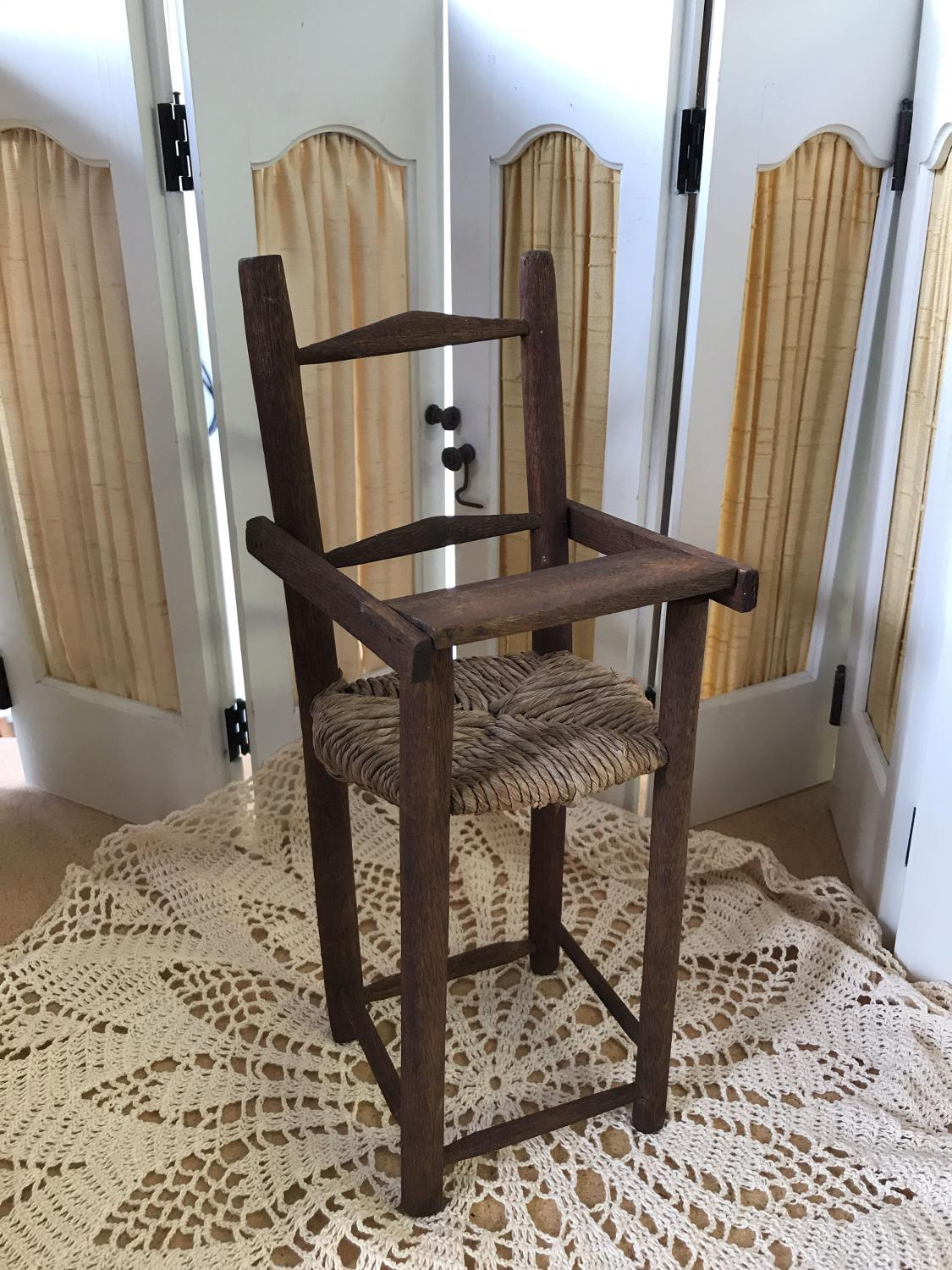 Best An Old Wood Wicker High Chair For A Doll 15 High X 6 Wide X 5 Deep For Sale In Sumter