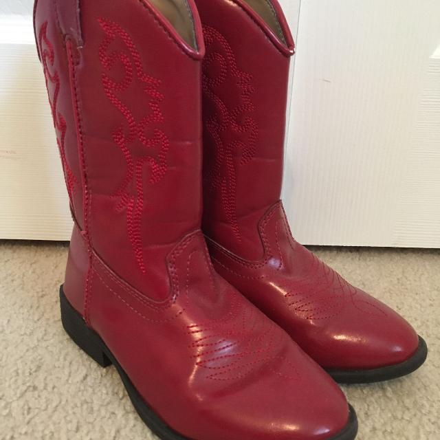 find more cute red cowboy boots size 1 duck head brand for sale
