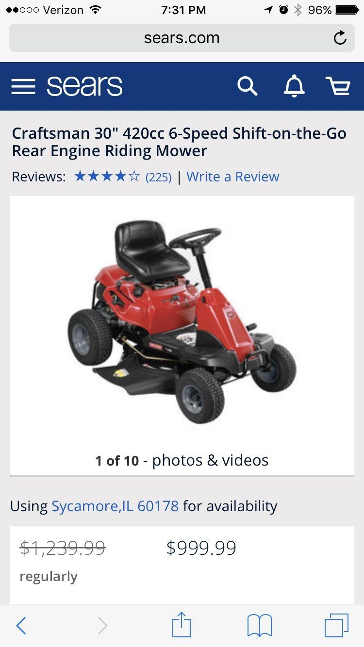 Best Riding Lawn Mower For Sale In Dekalb County Illinois