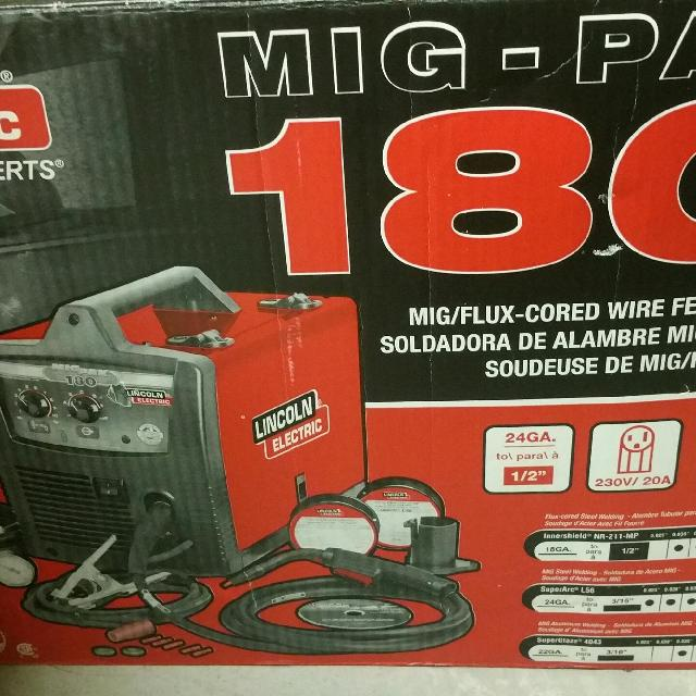Brand New NEVER USED Lincoln Electric MIG Pak 180 Wire Feed Welder