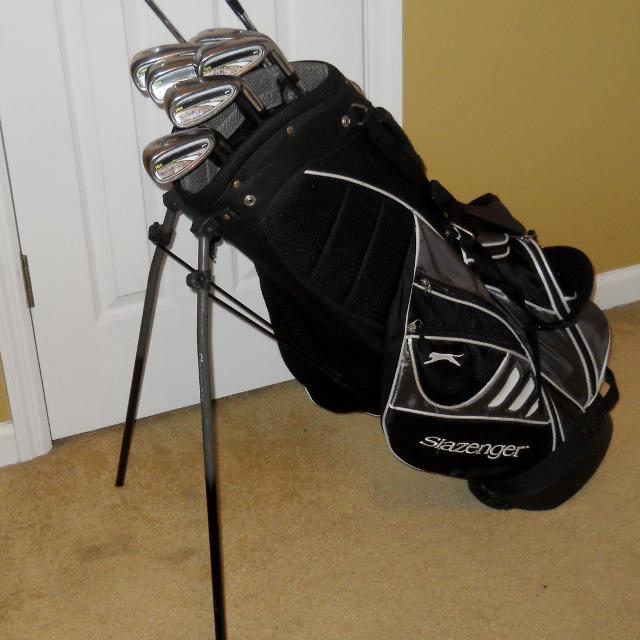 edbbbe0d11 Find more Slazenger Xtreme Dristance Golf Iron Set Plus Golf Bag ...