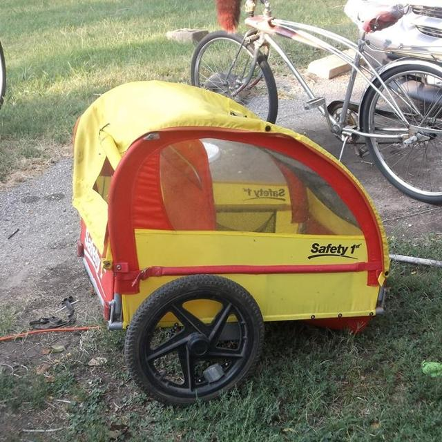 safety1st bicycle trailer ugly but functions fine