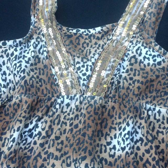 9014bbf8fb2 Best Girls Sz 14 Leopard Print Tank Tiered Maxi Dress for sale in Taunton