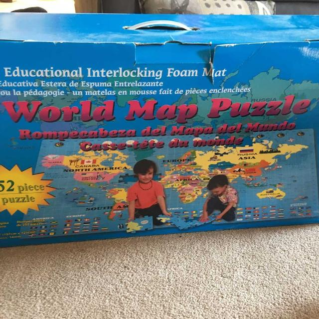 World map foam puzzle!