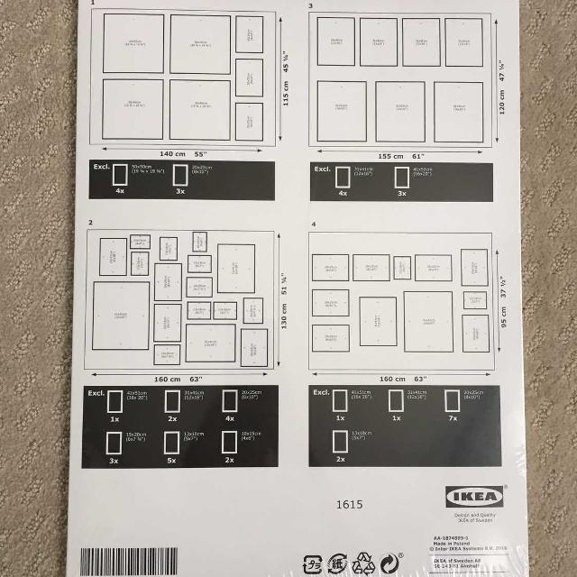Find More Ikea Matteby Gallery Wall Template For Sale At Up To 90 Off