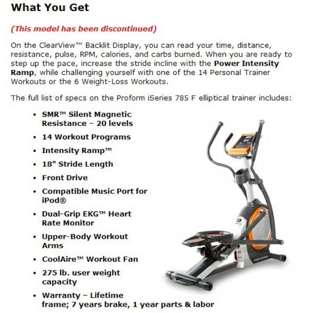 Used Elliptical For Sale >> Best Flash Sale Need To Sell Asap Used Elliptical Proform