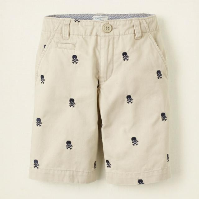 deb53c9f71 Boys Childrens Place Khaki Shorts Skull Embroidered Size 10 NWOT Kids  Clothes Fr