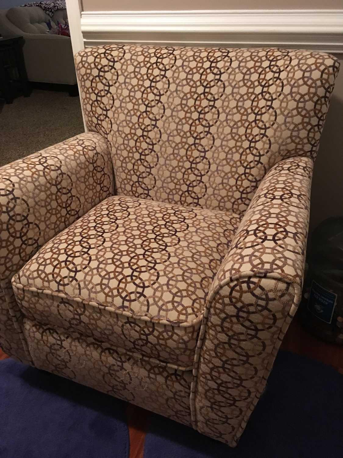 find more single arm chair circle pattern for sale at up to 90 off concord nc. Black Bedroom Furniture Sets. Home Design Ideas