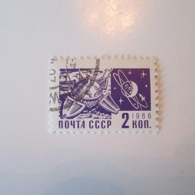 Space Postage Stamp From CCCP 1966 used