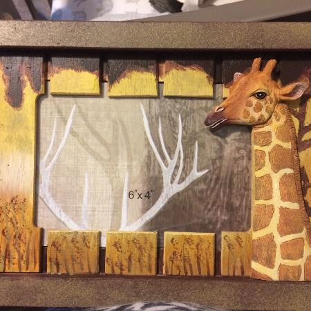 Giraffe picture frame, used for sale  Canada