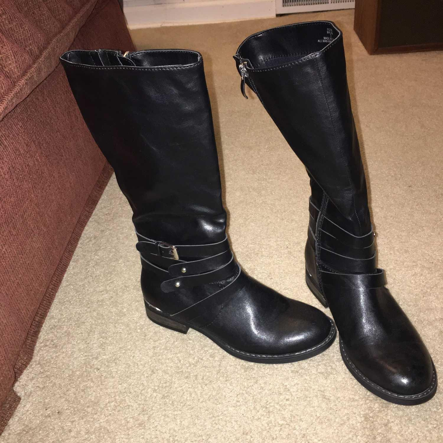 girls black boots size 3