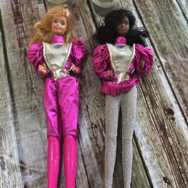 find more mid 80 s barbie on the moon astronaut barbie with helmets