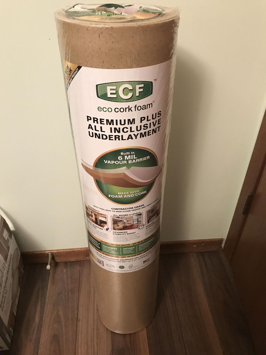 Find More Eco Cork Foam Under Lay 4 Rolls You Save 100