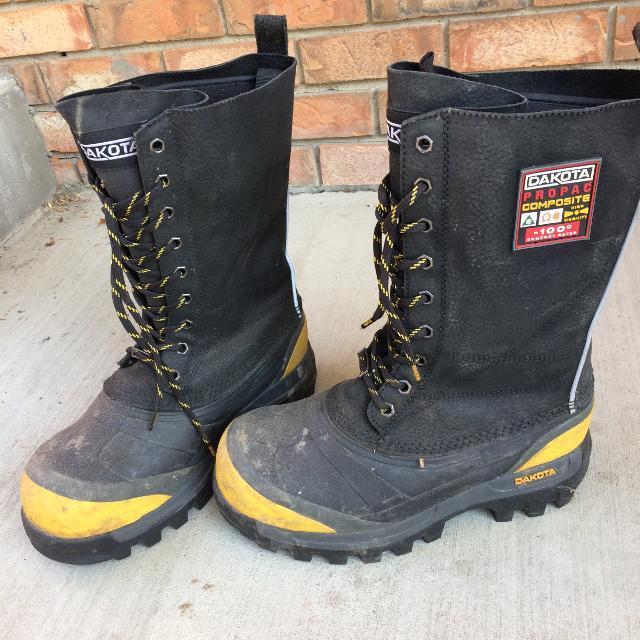 bbad804def7 Dakota Composite Toe Black Winter Safety boots Mens 6 fits Womens 7.5 $150