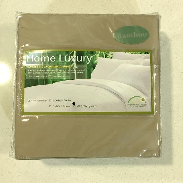 Best King Size Bamboo Cotton Sheet Set For Sale In Scarborough