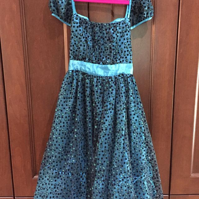 61c9e9d869b8 Best Girls Aquamarine And Black Sparkly Dress, Size 10, $15 for sale in  Cobourg, Ontario for 2019