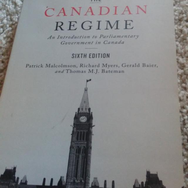 the canadian regime an introduction to parliamentary government in canada sixth edition