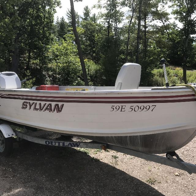 Find more 14 Foot Aluminum Boat, Motor And Trailer for sale at up
